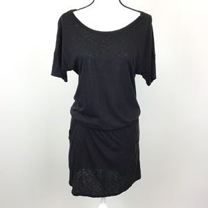LAMade Black Drop Waist Dress Cover Up